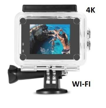 Câmera Action Go Sport Pro Wi-fi Lcd 4k 1080p Prova D