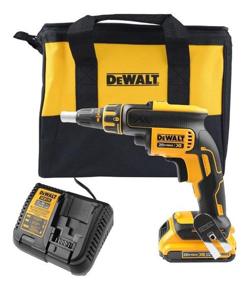 Parafusadeira Drywall Gesso 20v Bateria Dewalt Dcf620 Profis