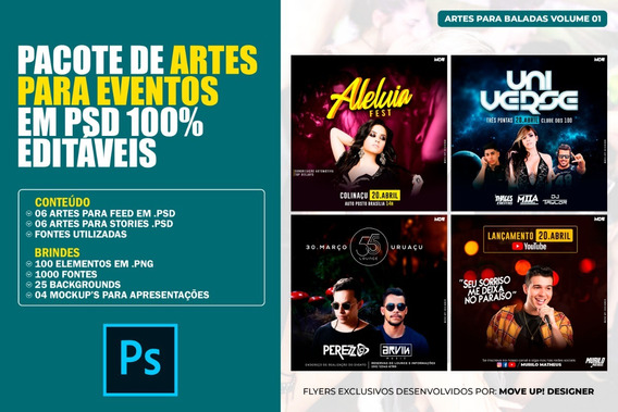 Pacote De Artes Para Eventos Em Psd 100% Editáveis