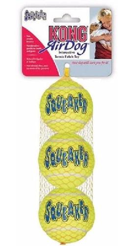 Kong Airdog Squeakair Ball Tennis Médio Brinquedo Bola Tenis Apito Cães Cachorros