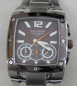 Relógio Masculino De Pulso Technos Chronograph 5 Atm