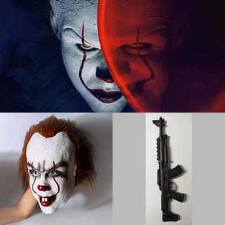Mascara It Payaso Asesino Rifle Fusil Terror Niño Adulto