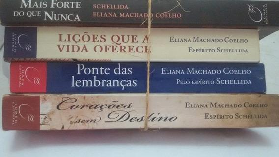 Livros Espirita Aut. Diversos Lote 3 Usados 4unid