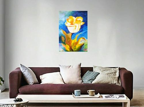 Imagen 1 de 7 de Pintura Acrílica En Lienzo, Medidas 50 Por 60 Cm.