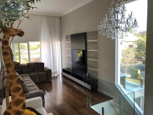 Imagem 1 de 30 de Sobrado Com 4 Dormitórios À Venda, 397 M² Por R$ 2.300.000,00 - Residencial Cinco (alphaville) - Santana De Parnaíba/sp - So0678