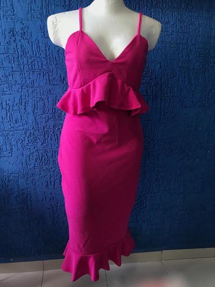 Vestido Para Mujer, Fiesta, Color Rosa, Nuevo Talla G