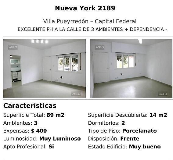 Venta Ph Nueva York 2100 2dorm Patio. Lum- Av. De Los Constituyentes.