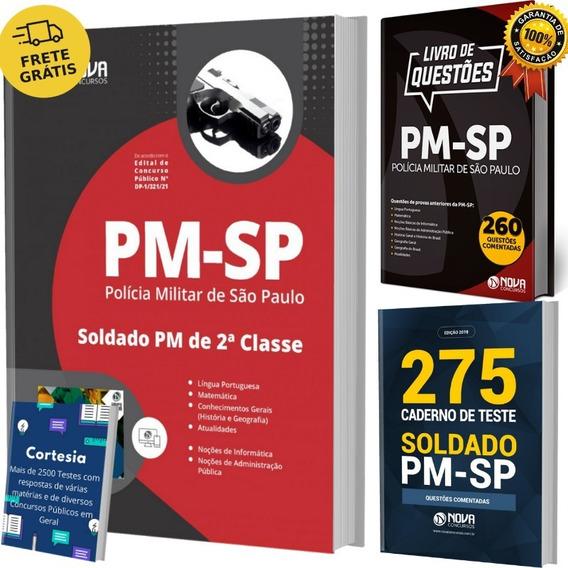 Kit Apostila Pm Sp Soldado + Livros De Questões