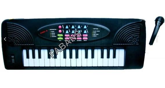 Piano Teclado Grande Con Microfono Niño Niña Juguete Musica