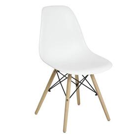 Cadeira Eiffel Com Base De Madeira Branca - Mor 009401