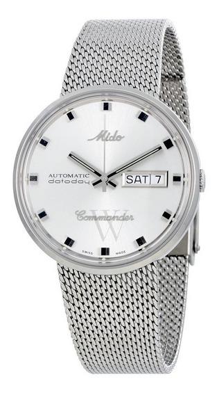 Relógio Mido Commander I Automático Dial Prata-m842942113