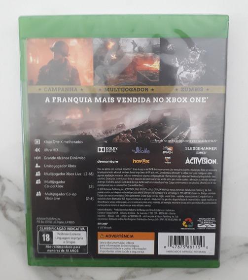 Game Call Of Duty Ww2 - Xbox One - Mídia Física - Português
