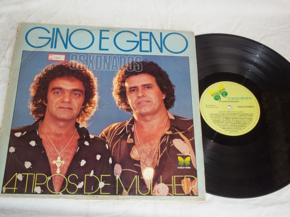 Lp Vinil - Gino E Geno - Os Xonados - Tipos De Mulher