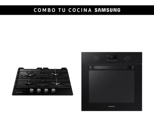 Combo Samsung Horno + Anafe A Gas Negro 4h Stienda
