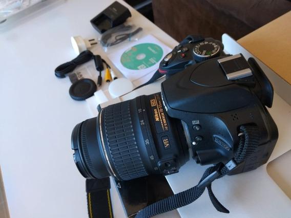 Câmera Nikon D3200 C/ Lente 18 - 55 Mm Vr Ii