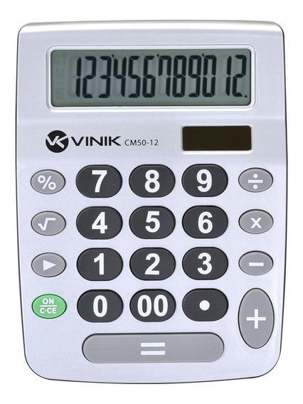 Calculadora De Mesa 21 Teclas Cm50 Prata Vinik