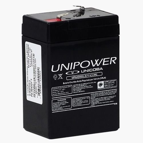 Kit 4 Baterias 6v 4,5ah Unipower - Moto Elétrica, Brinquedos