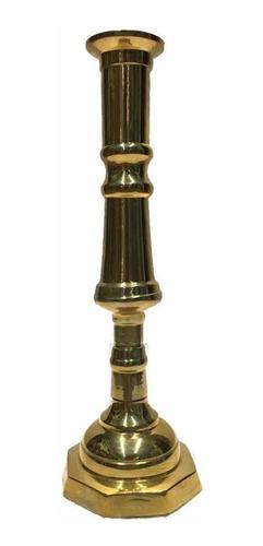 Imagen 1 de 1 de Candelero De Bronce 21cm Modelo Torneado
