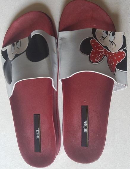 Chinelo Melissa Beach Slide Mickey E Minnie