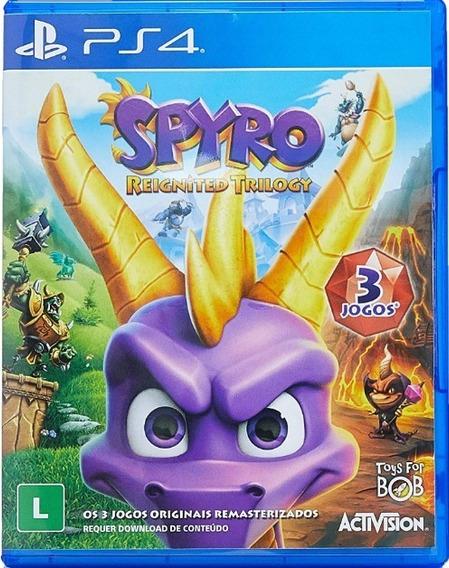 Spyro Trilogy Ps4 Mídia Física Novo Pronta Entrega Lacrado