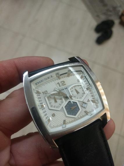 Relógio Diesel Dz 4163 Branco Unissex Original