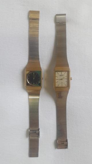 2 Antigos Relógios Orient Quartz - Anos 70 - Leia Descrição