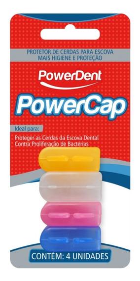 Escova Dental Protetor Cerdas Powercap C/ 4 Powerdent