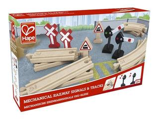 Hape Señales Y Vias De Ferrocarril Compatible Trencity Brio