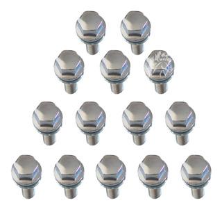 Kit De 12 Bulones Cromados + Set De Seguridad Autocentrantes