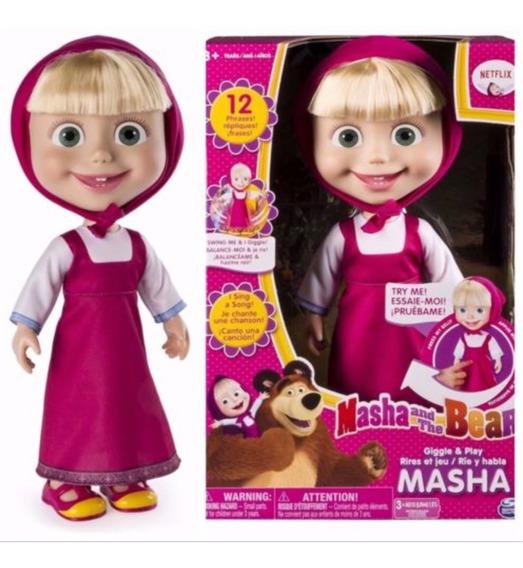 Boneca Desenho Masha E O Urso - Fala 12 Frases - Original