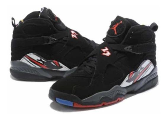 Tenis Air Jordan 8 Retrô Black Red