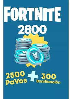 Compra Fortnite 2500 Pavos (+300 Adicionales) Inmediato