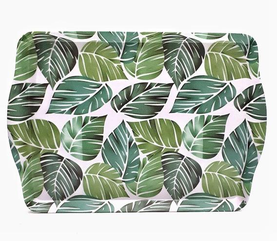 Bandeja De Melamina Premium Con Asa Bamboo 35x25 Sheshu Home