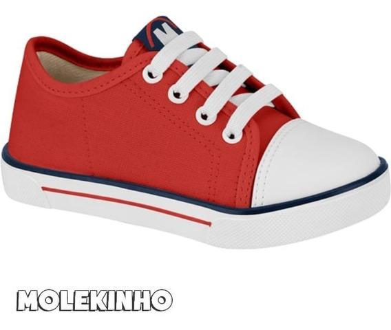 Tênis Molekinho Lona Sider Vermelho Calce Fácil - 2133.649