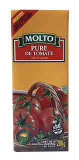 Pure Tomate Molto 200gr Pastas Lasañas Comida Libre Gluten