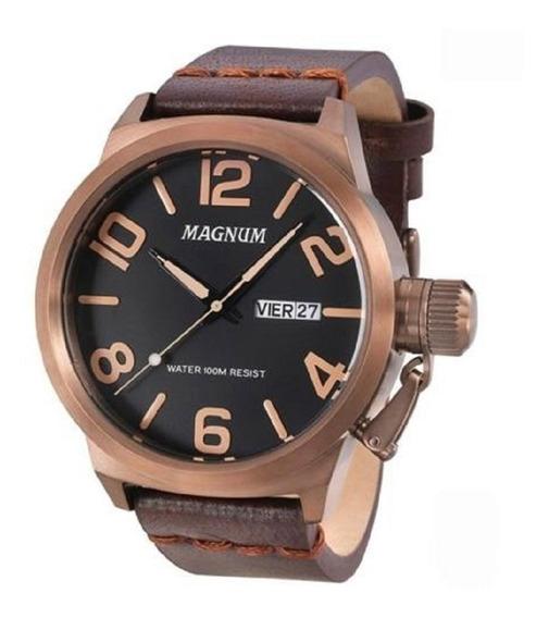 Relógio Masculino Magnum Pulseira Couro Ma33399m