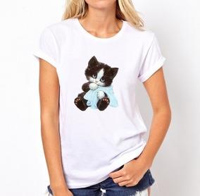 Camisa Blusa T-shirt Camiseta Gatinho Fofo