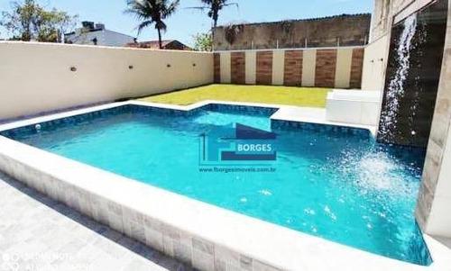Casa Alto Padrão Lado Praia, Com Piscina Somente R$430mil Minha Casa Minha Vida Utilize Seu Fgts Whats (13) 98174-2222 - Ca0690