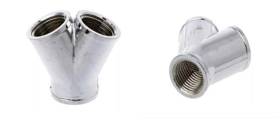 Water Cooler Conexão Y Cromada G1/4 De Três Saídas