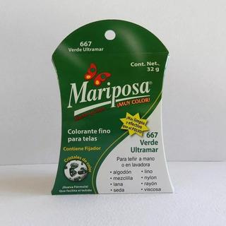 Colorante Mariposa Cristales Verde Ultramar 667