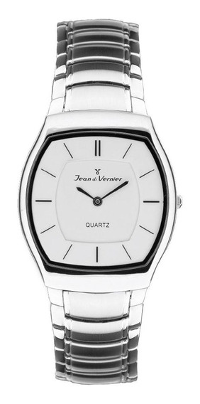 Relógio Pulso Jean Vernier Com Cristal Unissex Jv06227b