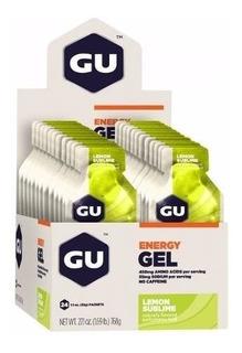 Gu Energy Gel Carboidrato Limonada Caixa Com 24 Sachês