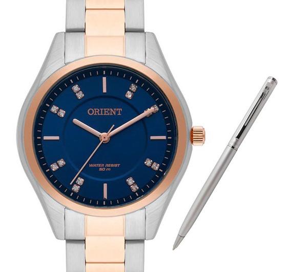 Relógio Orient Feminino Ftss0055 D1sr + Brinde Caneta Crown
