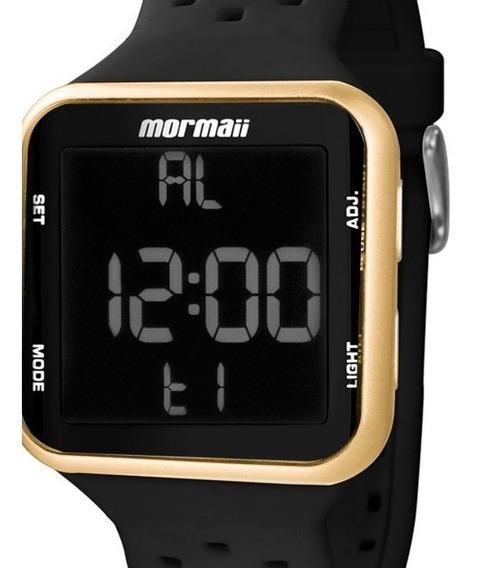Relógio Feminino Esporte Mormaii Digital Pulseira De Silicone Preto Dourado Mo6600/8d Original C/ Garantia