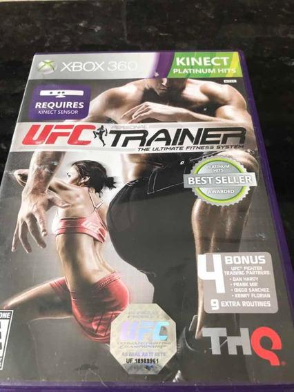 Jogo Xbox 360 Kinect Ufc Trainer Original Mídia Física