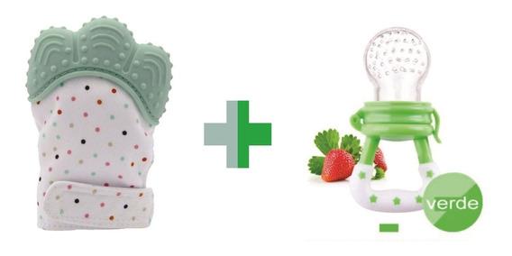 Kit 1 Luva Mordedor + 1 Chupeta Alimentadora Bebe Promoção