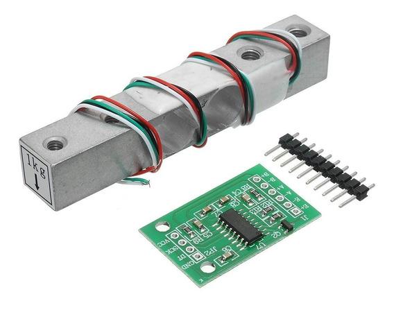 Hx711 + Celula De Carga 1kg Sensor De Peso Balança Arduino