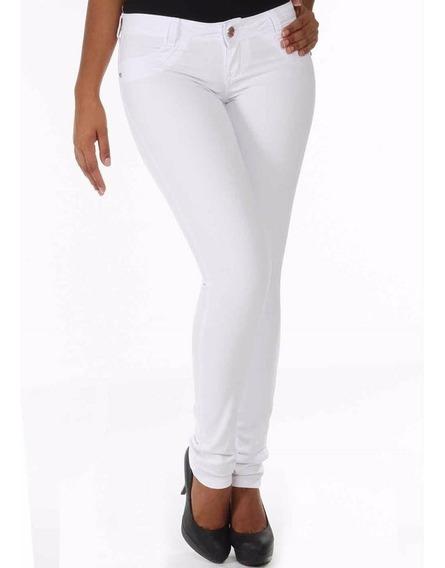 # Sawary Jeans Calça Skinny Branca 235302 - Tamanhos 36 42
