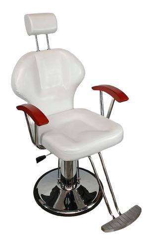 Imagen 1 de 9 de Silla Sillon Barberia Hidraulico Salon Reclinable Barbero