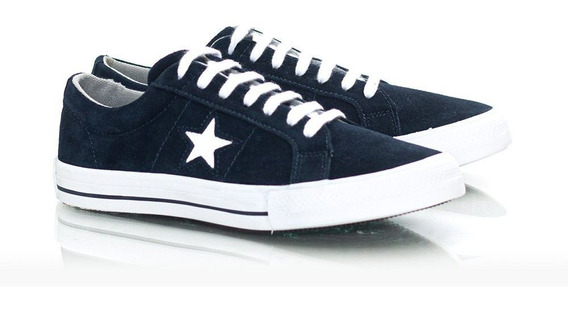 Tênis Masculino One Star - Camurça Azul Marinho
